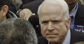 McCain Continues to Spout Nonsense, Says Russia is More Dangerous Than…