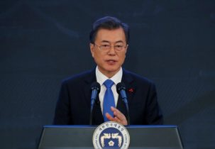 South Korea President Moon's approval rating drops on Olympics furor