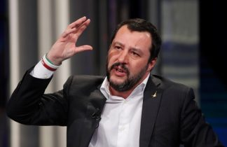 Italy center-right divisions widen as League beats anti-euro drum