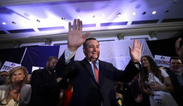 Senator Ted Cruz thanks supporters in the wake of reelection victory