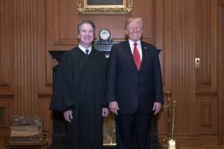 President Trump attends swearing-in ceremony for Brett Kavanaugh