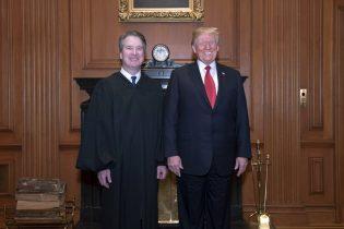 President Trump attends swearing-in ceremony for Brett Kavanaugh