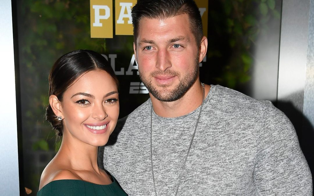 Tim Tebow and fiancée Demi-Leigh Nel-Peters celebrate their engagement at Disney World