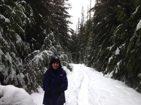 Snowshoeing at Glacier Bear Retreat