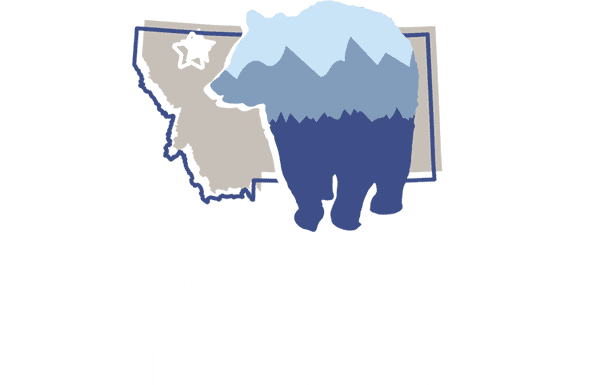 Montana Bear Properties Logo Color Reversed
