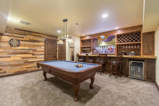 9- Recreation room with pool table and bar- Max Elman 10