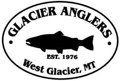 Glacier Anglers Logo with West Glacier white background