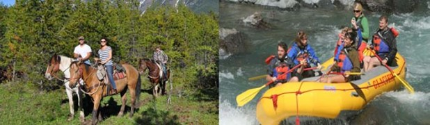 ride and raft, saddle and paddle