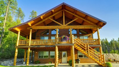 Outside view of our glacier national park cabins