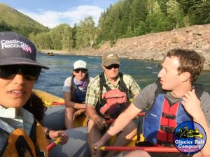 Hilary Hutchinson, Mark Zuckerberg, White water rafting, casting for recovery, zuckerberg tour