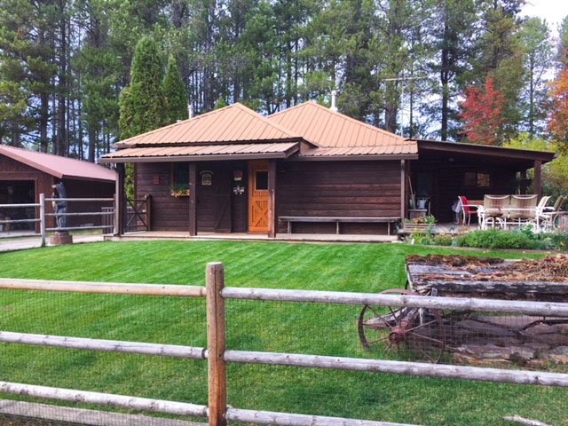 The green lawn extends out from this Glacier Park Cabin, can you imagine what the view from the front door is? See yourself staying in these accommodations over a motel or hotel!