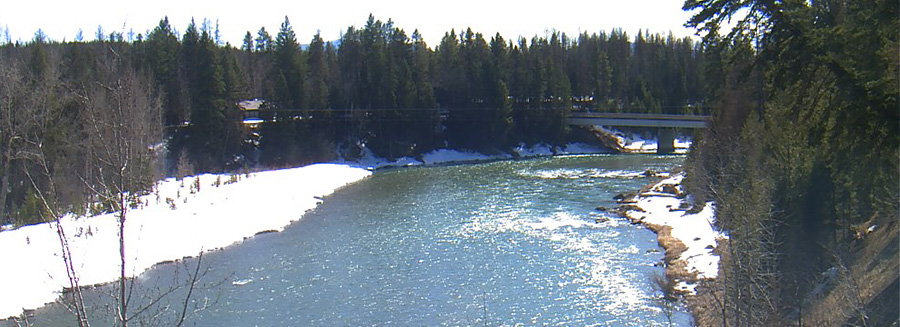 Webcam view of Middle Fork of the Flathead River