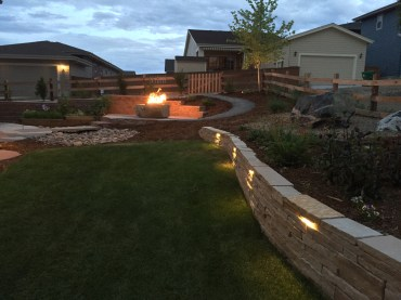 block wall and two colored patio-Fire1