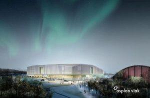 Illustrasjon av Tromsøbadet. (Asplan Viak)