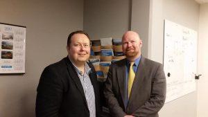 Møte med Jonathan Nass, som er chairman for Port of Portland (Maine),