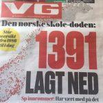 Foto / faksimile av VGs førsteside 24.3.17