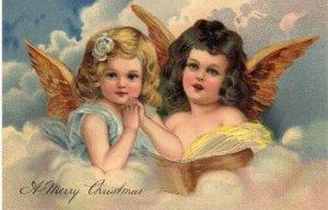 2 söta God Jul Änglar