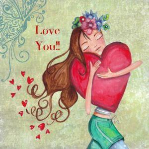 Älskar dig hjärta flicka