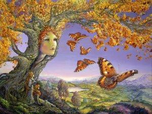 Träd kvinna