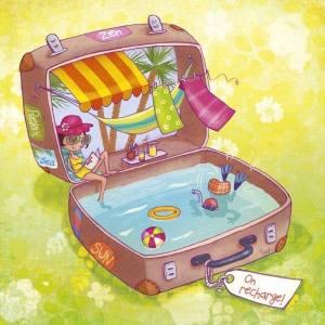 Resväska med semester
