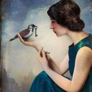 Kvinna fågel nyckel - kopia