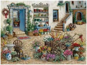 Blommor gård vagn