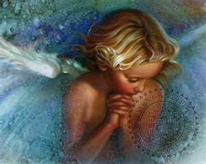 Ängel blå