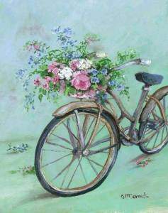Cykel tecknad fin