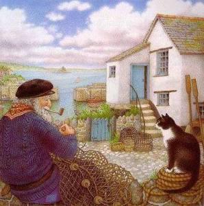Fiskare hus katt