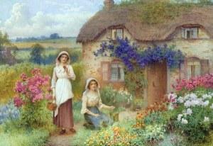 Kvinnor hus halmtak