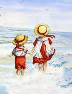 Barn hav springer
