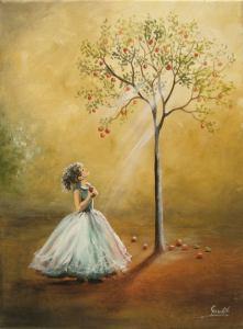 Flicka träd beige