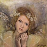 Ängel beige flicka liten
