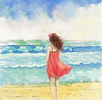 Flicka hav