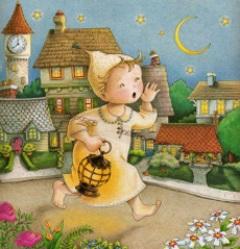 Godnatt pojke i gult liten