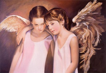Ängel flickor rosa kopia