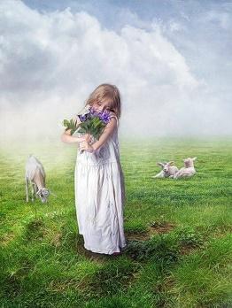 Flicka blommor kopia