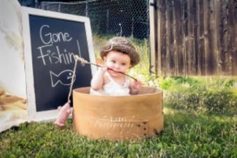 Barn fiskar kul kul