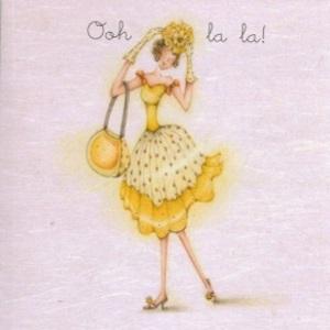 Kvinna gul kopia