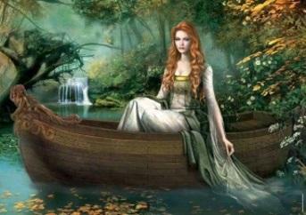 Kvinna eka vattenfall kopia