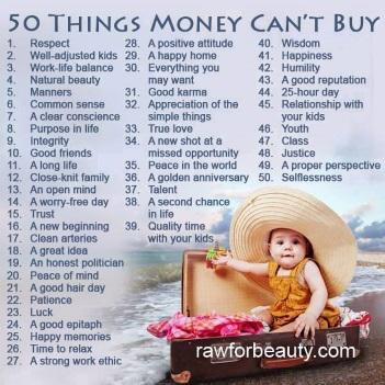 50 saker pengar inte kan köpa kopia