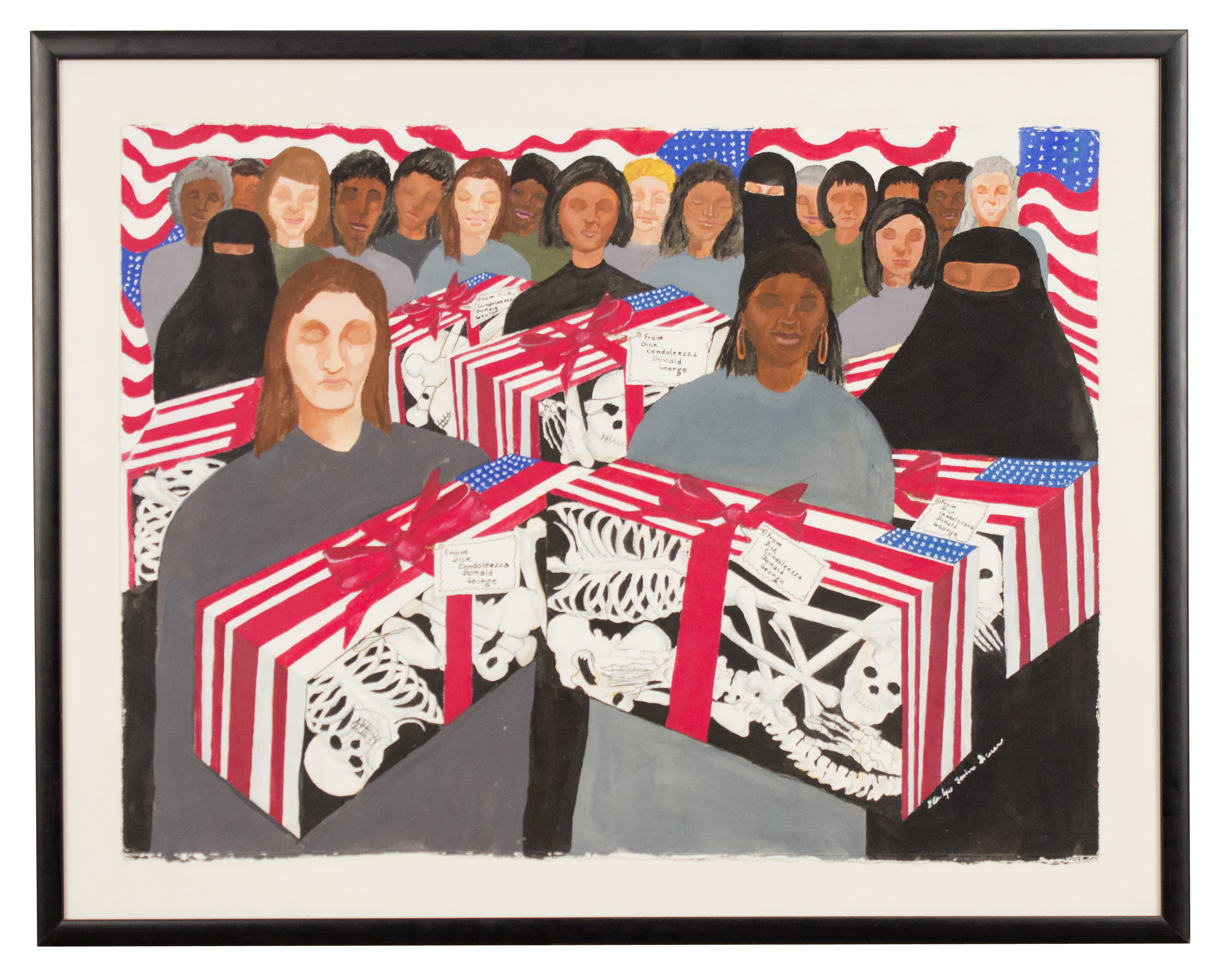 """""""Mother's Day Gift"""" 2004, Gouache on Paper, 28x35IN"""