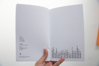 Interior view of The White Album catalog