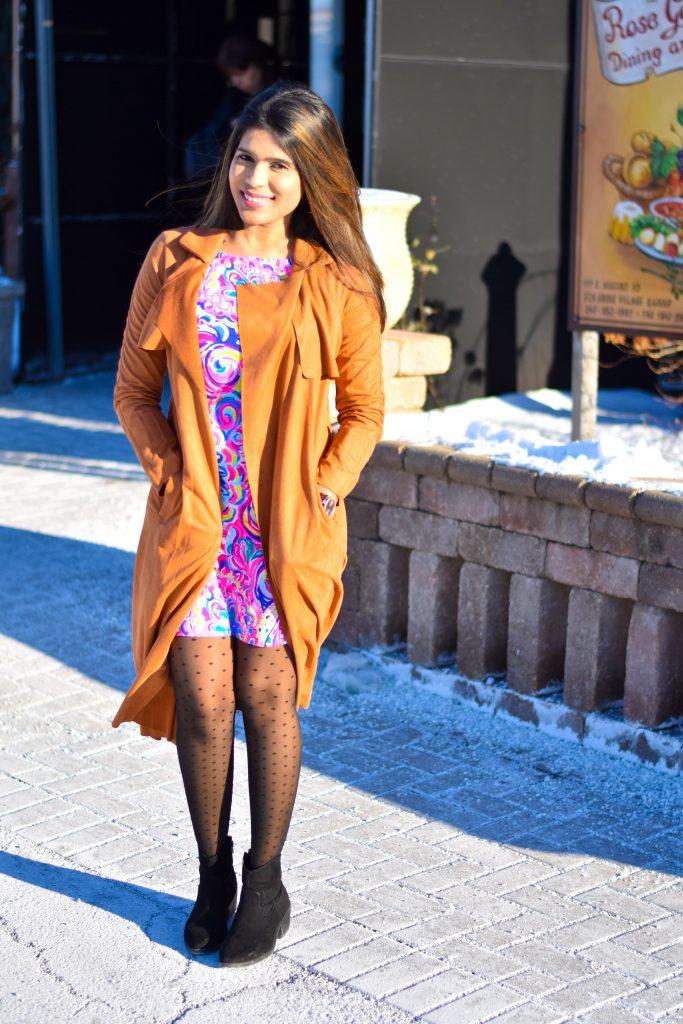 Romwe suede coat
