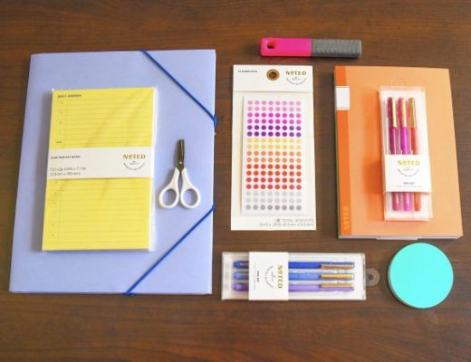 Work Desk with Post-It supplies