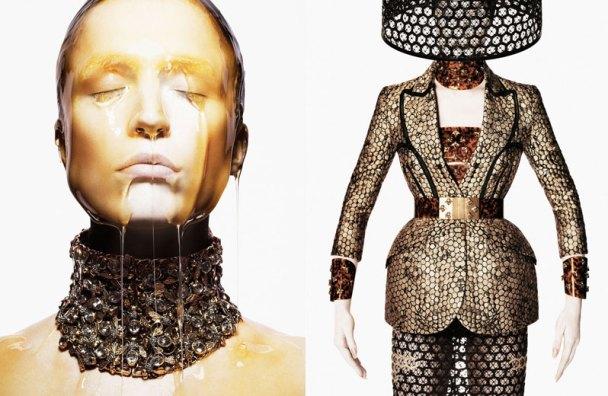 Raquel Zimmermann for Alexander McQueen Spring 2013 Campaign 2