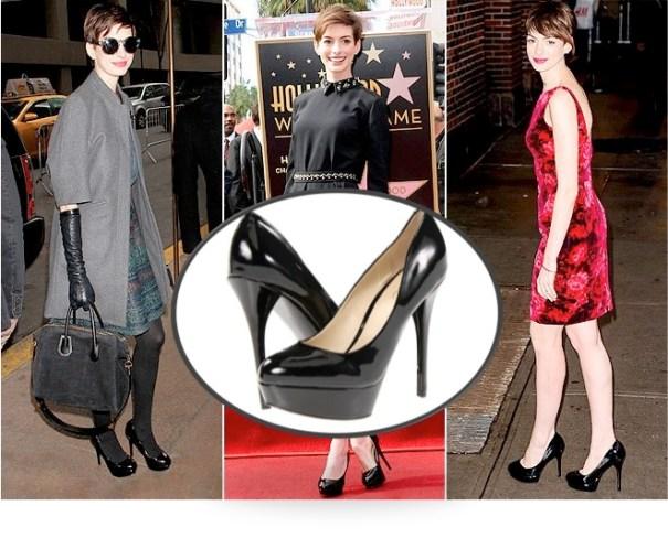 Anne Hathaway in ALDO Fronime Pumps