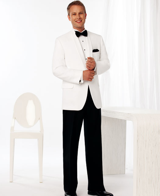 Black tie White Dinner Jacket 2