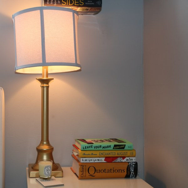 DIY Spray Paint Lamp Gold