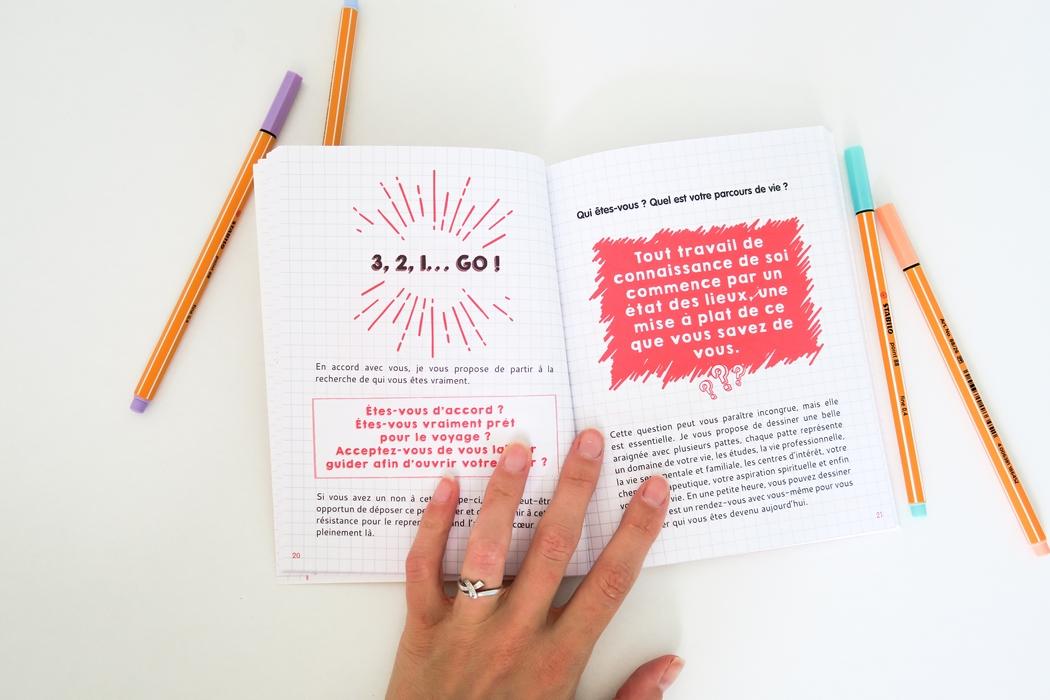 Le but d'un livre cahier de développement personnel :améliorer sa vie, changer de but, apprendre à lâcher prise, cultiver le bonheur... De façon ludique, progressive, sans stress. Mon Projet Bonheur, Le Défi des 100 Jours de Lilou Macé, le bullet journal ou BUJO en font par exemple partie.
